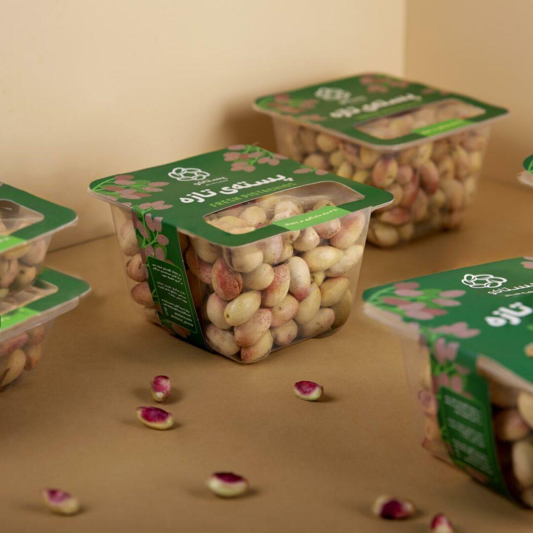 بستهبندیهای پستهی تازه پستاکو